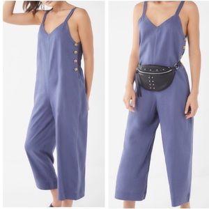 Urban Outfitters Marta Linen Jumpsuit Sz M ::UU14